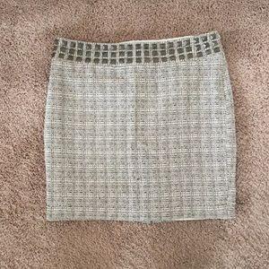 Studded tweed mini skirt, size 10
